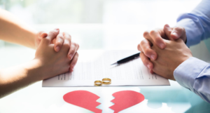 couple getting divorce